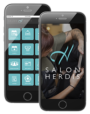 Photo of Complete Salon Custom Branded MyDash Interface on IPhone